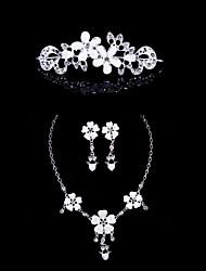 Resin Alloy Wedding/Party Jewelry Set With Rhinestone