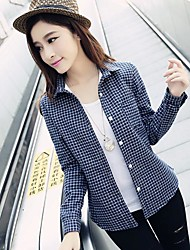 cheap -Women's Street chic Cotton Shirt - Polka Dot Shirt Collar