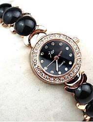 Недорогие -Женские Часы-браслет Повседневные часы Имитация Алмазный Кварцевый сплав Группа Элегантные часы Черный Белый