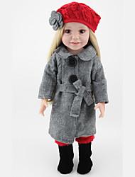 abordables -45cm npk chica 18''american muñeca princesa llena de vinilo hechos a mano bebé realista juguetes vivos pelo largo con ropa mejor regalo