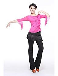 Latin Dance Tops Women's Training Milk Fiber Short Sleeve Top
