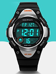 cheap -SKMEI Men's Digital Watch / Wrist Watch / Sport Watch Alarm / Calendar / date / day / Cool Rubber Band Fashion Black / Blue / Pink