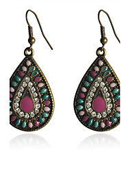 cheap -Women's Silver Plated Drop Earrings - Colorful European Drop For Party Daily Casual