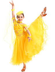 High-quality Spandex with Crystals Modern Dresses for Children's Performance(More Colors) Kids Dance Costumes