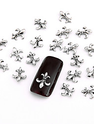 cheap -10PCS Grey Nail Art Jewellry Punk Chrome Hearts Aryclic Nail Tips Decorations Nail Art Glitters for Nails