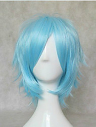 cheap -New Stylish Blue Cosplay Wigs Synthetic Hair Wig Short Straight Animated Wig Party Wig