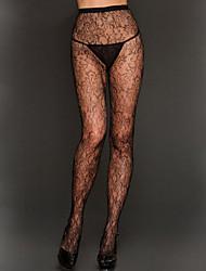 Women's Gardenia Print Lace Pantyhose