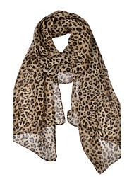 cheap -Women's Party Work Chiffon Infinity Scarf - Leopard Print