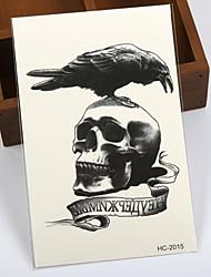 baratos -Etiqueta do tatuagem Corpo / Braço / de volta Tatuagens temporárias 1 pcs Série dos desenhos animados Descartável / Alta qualidade, livre de formaldeído Arte para o Corpo Halloween / Mascarilha