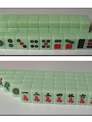 Недорогие -poketable путешествия маджонг изумрудно зеленый мини игры играть плитки установить 21мм
