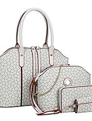 Donna Sacchetti Per tutte le stagioni PU (Poliuretano) sacchetto regola Set di borsa da 4 pezzi per Shopping Casual Formale Bianco Blu