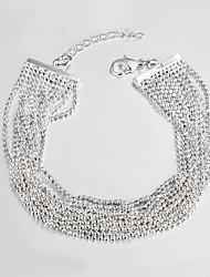 Недорогие -случайный посеребренные ссылку / цепь браслет браслеты и браслеты дружбы браслеты горячей продажи