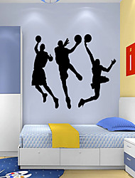 cheap -People Cartoon Sports Wall Stickers Plane Wall Stickers PVC Home Decoration Wall Decal Wall