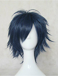 cheap -Top Quality Blue Cosplay Wigs Synthetic Hair Wig Man's Short Straight Animated Wig Party Wig