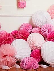 baratos -Festa de Casamento Papel Pérola Mistura de Material Decorações do casamento Tema Praia / Tema Jardim / Tema Flores / Tema Borboleta /