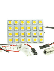 cheap -T10  BA9S SV8.5 G4 LED  4.5W 24X5050SMD LED 240LM  Blue/Red/Warm White/Yellow/White  for Car Light Bulb  (DC12-16V)