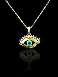 Placcato oro reale 18k male ciondolo colore degli occhi 3.3 * 3,3 centimetri