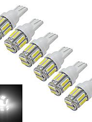 abordables -t10 lumière de décoration 10 smd 7020 210lm blanc froid 6000-6500k dc 12v