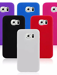 Недорогие -силиконовые дизайн материал задняя крышка чехол для Samsung Galaxy s6 (ассорти цветов)