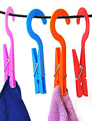 cheap -2pcs Clip Hangers Convenient Home Laundry Clothes Socks Hook Towels Clips