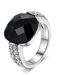 cheap -Women's Crystal Statement Ring - Square Geometric Fashion Simple Style For Party