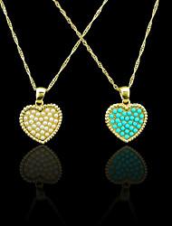 Pendenti Metallo / Perla Heart Shape come immagine 1