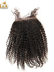 """Недорогие -10""""-20"""" Черный Полностью ленточные Крупные кудри Человеческие волосы закрытие Умеренно-коричневый Chinese Lace 60g/piece граммРазмер"""