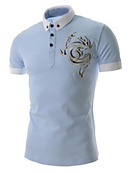T-Shirts ( Bomuld/Rayon ) MEN - Vintage/Casual/Party/Arbejde Kort Ærmet