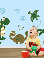 cheap -New & Hot ! Cartoon Dinosaur Wall Sticker PVC Removable For Kids Room/Bathroom/Glass Decals