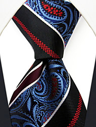 cheap -P29  New Handmade Dress Men's Neckties Red Blue Multicolor Stripes Paisley 100% Silk Business Jacquard Woven