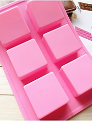 cheap -Fashion Silicone Soap Ice Modelling Cake Mold Kitchen Bakeware Cake Chocolate Decorating Cooking Tools (Random Color)