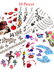 cheap -10 Non Toxic Pattern Waterproof Animal Series Flower Series Others Tattoo Stickers