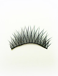 1 Pairs Black High-class Fiber False Eyelashes Cosmetic Beauty Care Makeup for Face