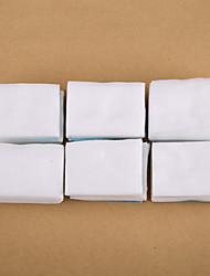 500pçs branco unhas almofadas dicas removedor de algodão unha polonês arte de algodão limpo removedor de unha instrumentos de manicure