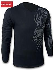 billige -Herre-Helfarve Trykt mønster Klassisk & Tidløs T-shirt