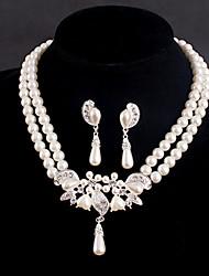Conjunto de jóias Mulheres Aniversário / Casamento / Noivado / Presente / Festa / Ocasião Especial Conjuntos de Joalharia Prateado / Liga
