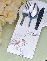 baratos -jogos de serviço do bolo de casamento de faca fontes personalizadas sacos conjunto de 10 ---- murmúrio