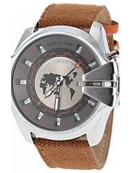 cheap -JUBAOLI Men's Quartz Military Watch Calendar / date / day Casual Watch Fabric Band Charm Fashion Black
