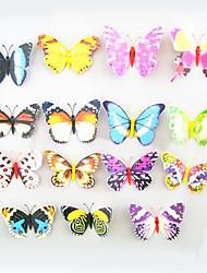 Недорогие -магниты на холодильник, магнит присоски с бабочками, красочные бабочки высокой моделирования