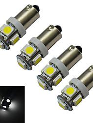 Недорогие -jiawen 4шт 70-100 лм ba9s свет автомобиля лампа для чтения украшения свет 5 светодиодов smd 5050 холодный белый dc 12v