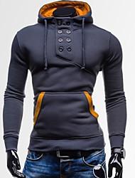 Sweatshirts & Hættetrøjer ( Bomulds Blanding ) MEN - Casual Hattetrøje - Lang Ærmet