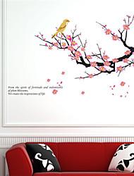 Tatuajes de pared pegatinas de pared, ciruela pvc flor pegatinas de pared