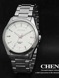 cheap -CHENXI® Men's Simple Design Dress Watch Japanese Quartz Calendar Water Resistant Silver Steel Strap Cool Watch Unique Watch Fashion Watch