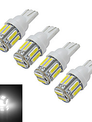cheap -210 lm T10 Decoration Light 10 leds SMD 7020 Cold White DC 12V
