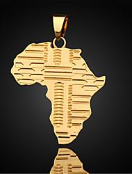 Недорогие -Муж. карта Ожерелья с подвесками Кулоны Позолота Ожерелья с подвесками Кулоны , Повседневные Спорт