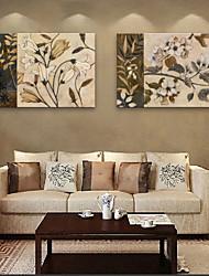 e-Home® allungato su tela di fiori pittura decorativa set di 2