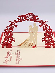 "cheap -Side Fold Wedding Invitations 1 - Save The Date Cards Card Paper 4 ¾""×5 ½"" (12cm*14.5cm)"
