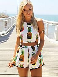 baratos -Mulheres Chique & Moderno Vestido - Estilo Moderno, Floral