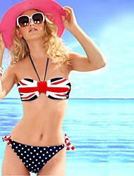 preiswerte -Damen Bikinis - Gemischte Farbe, Nationalflagge Tie Side Bikini