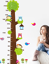 cheap -Wall Stickers Wall Decals, Style The Owl Monkey Tree Measure Your Height PVC Wall Stickers